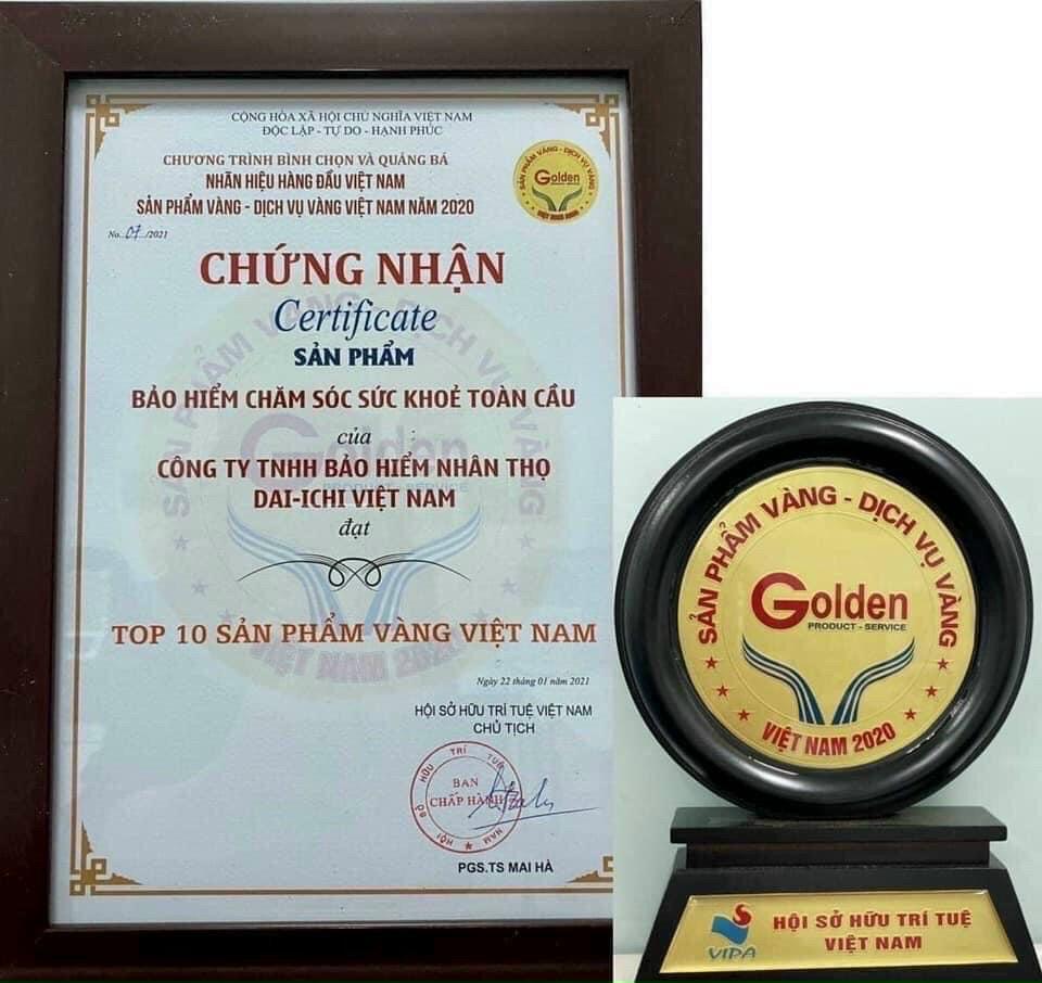 chăm sóc sức khỏe toàn cầu dai-ichi life việt nam top 10 sản phẩm vàng